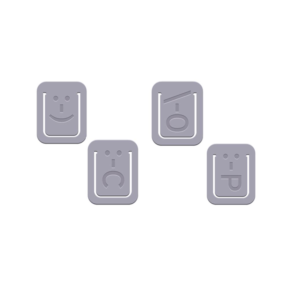 Fred & Friends Iconoclasps 趣味迴紋針(灰色)