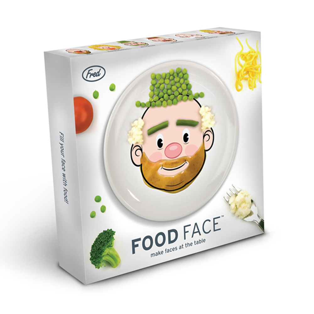 Fred & Friends Food Face 臉盤食物大作戰 (男臉)