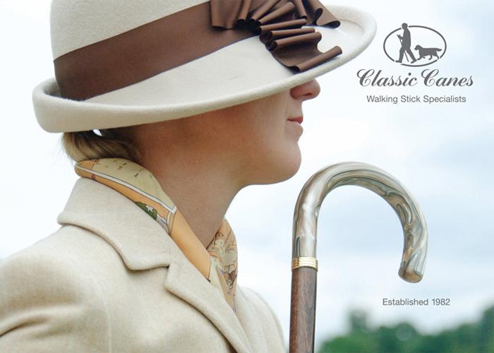 英國Classic Canes│銀色把頭造型傘 - 1760