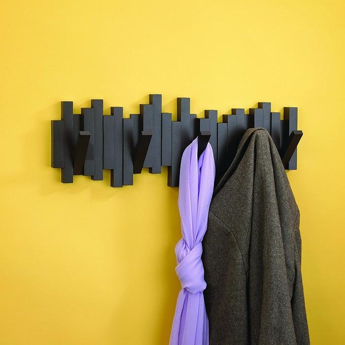 Umbra | 琴鍵造型牆上掛勾 黑