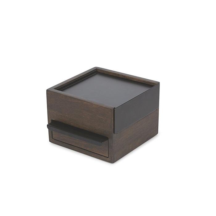 Umbra | 木質飾品收納盒-胡桃木色-小