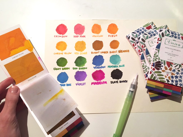 【集購】印度 Viviva Colors   隨身固態水彩盤