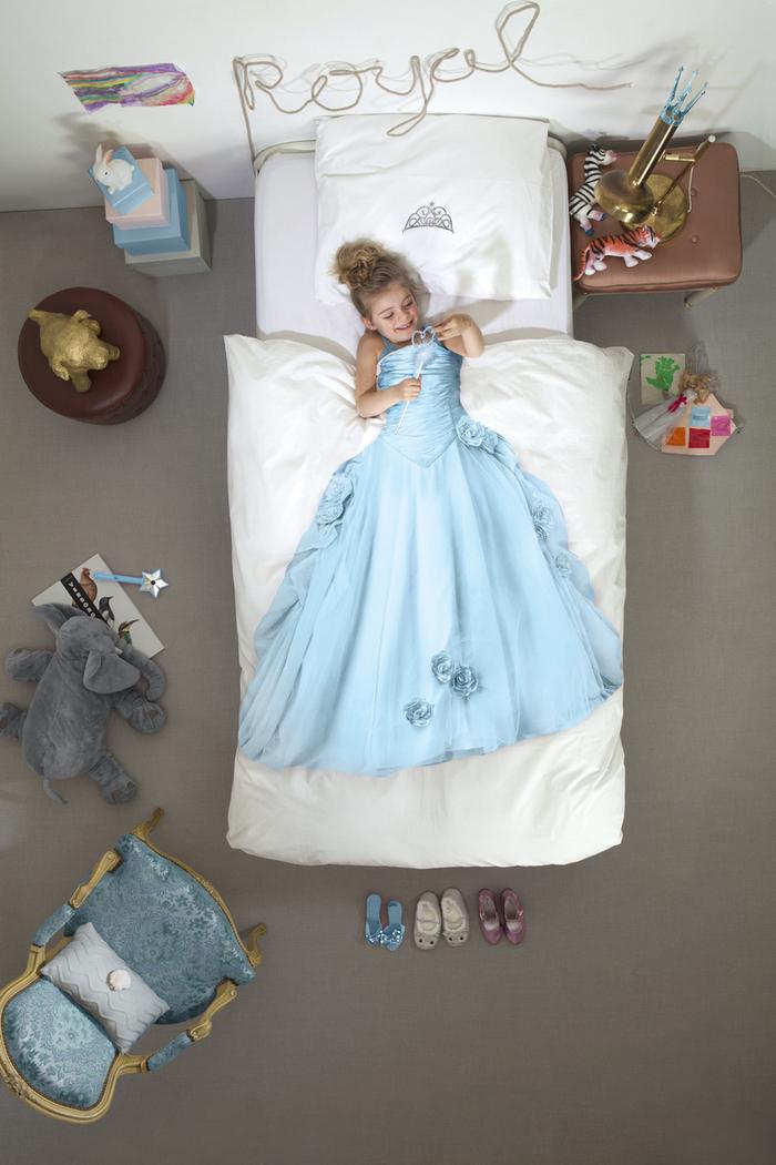 【預購】SNURK|夢幻公主系列-冰雪公主 枕套+被套組