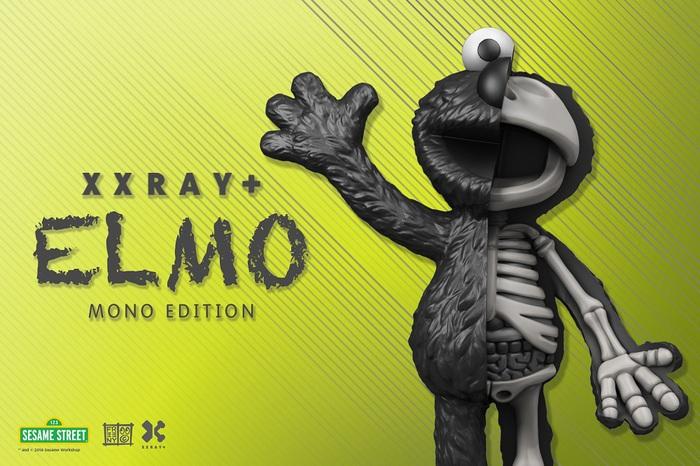 【集購】XXRAY | 限定色 芝麻街Elmo半剖授權公仔(21.5公分)