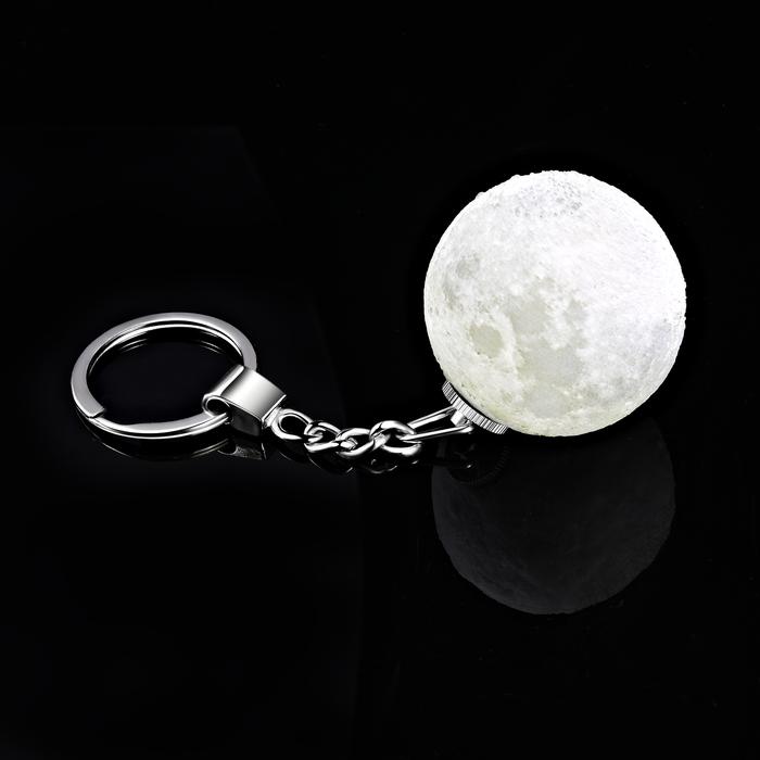 3D月球 LED鑰匙圈