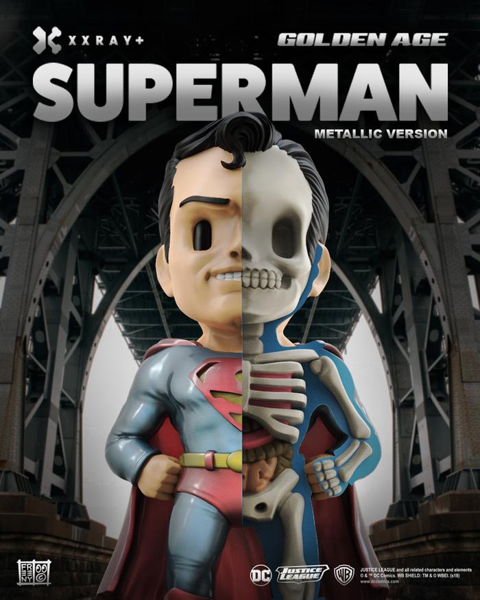 【集購】XXRAY PLUS | 原廠限定 超人(金屬限定版) 半剖授權公仔 (10吋)