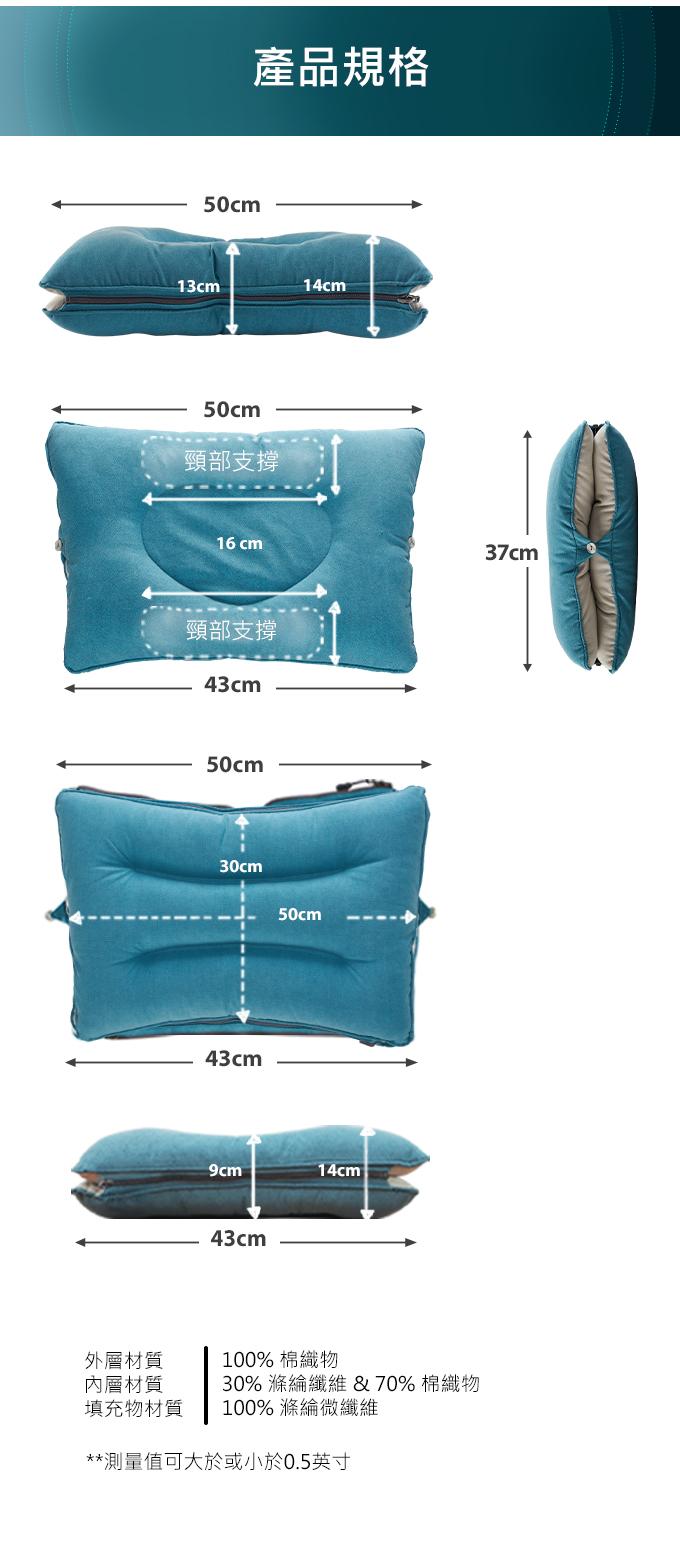 【集購】韓國Dullo Pillow|人體工學雙面枕 解決睡眠困擾