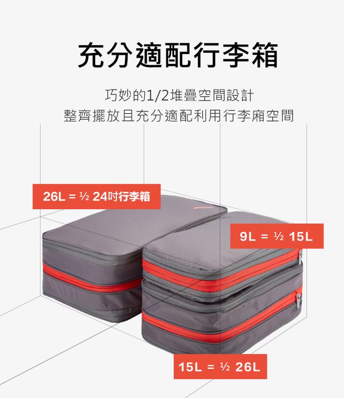 【集購】BeeNesting 旅行收納壓縮包 四件組