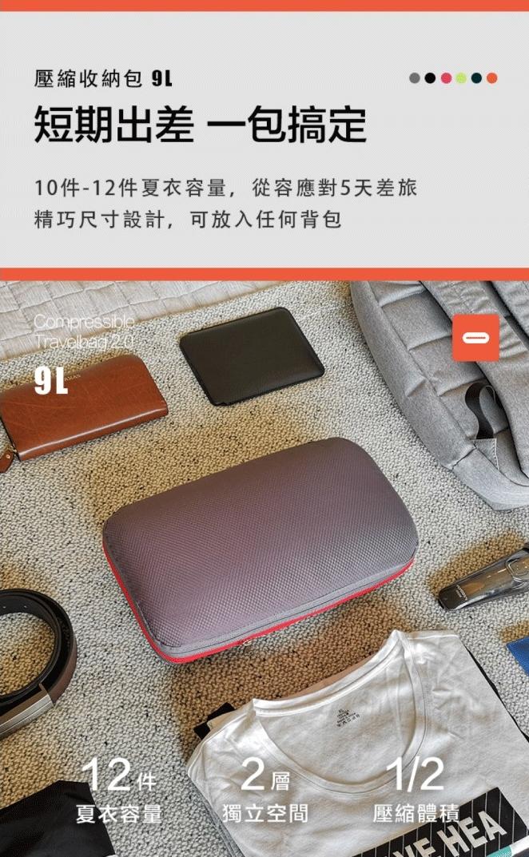【集購】BeeNesting 旅行收納壓縮包2.0 四件組 (四色可選)