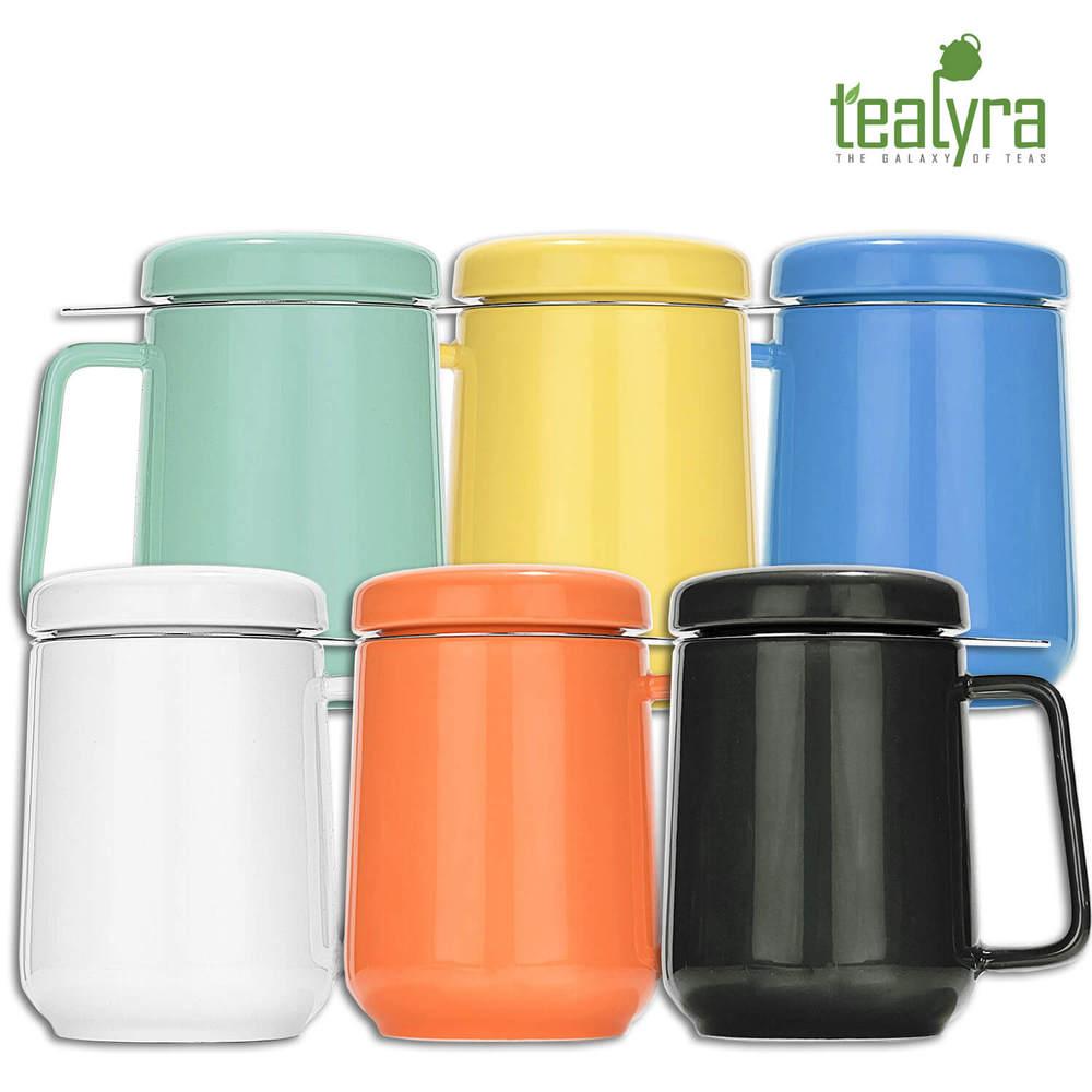Tealyra | 糖果色陶瓷泡茶杯 黑