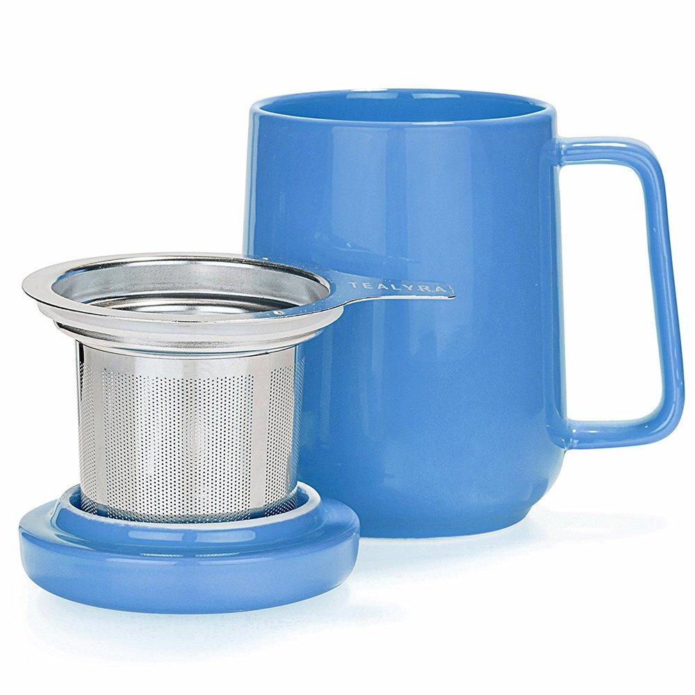Tealyra | 糖果色陶瓷泡茶杯 藍