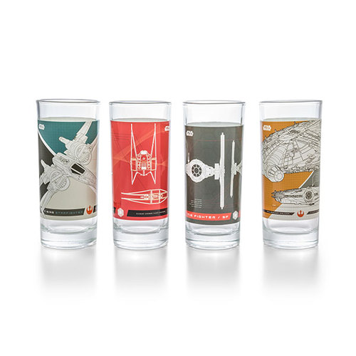 Star Wars | 戰艦玻璃杯4入-10oz