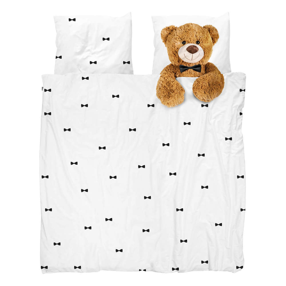 SNURK   童趣幻想系列-泰迪  雙人枕套+被套床組