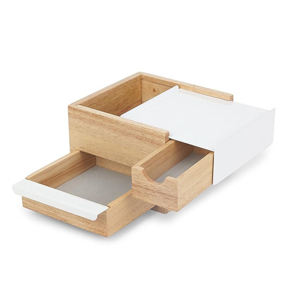 Umbra | MINI STOWIT 木質飾品收納盒-原木色-小