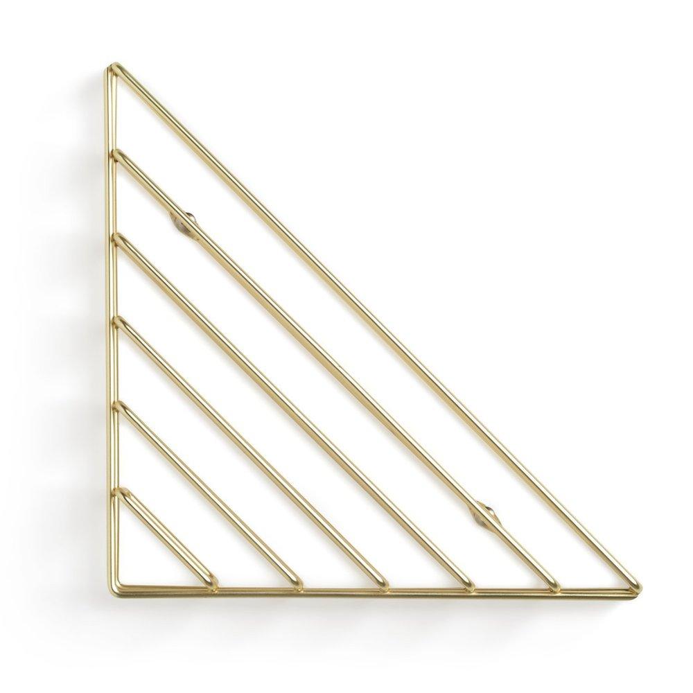 Umbra   STRUM 幾何書架 黃銅色