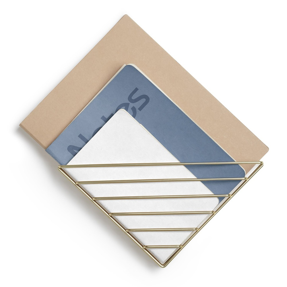 Umbra | STRUM 幾何書架 黃銅色