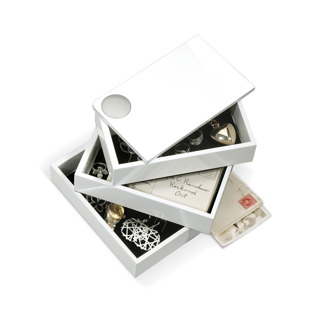 Umbra | SPINDLE 磁吸式旋轉首飾盒 白色