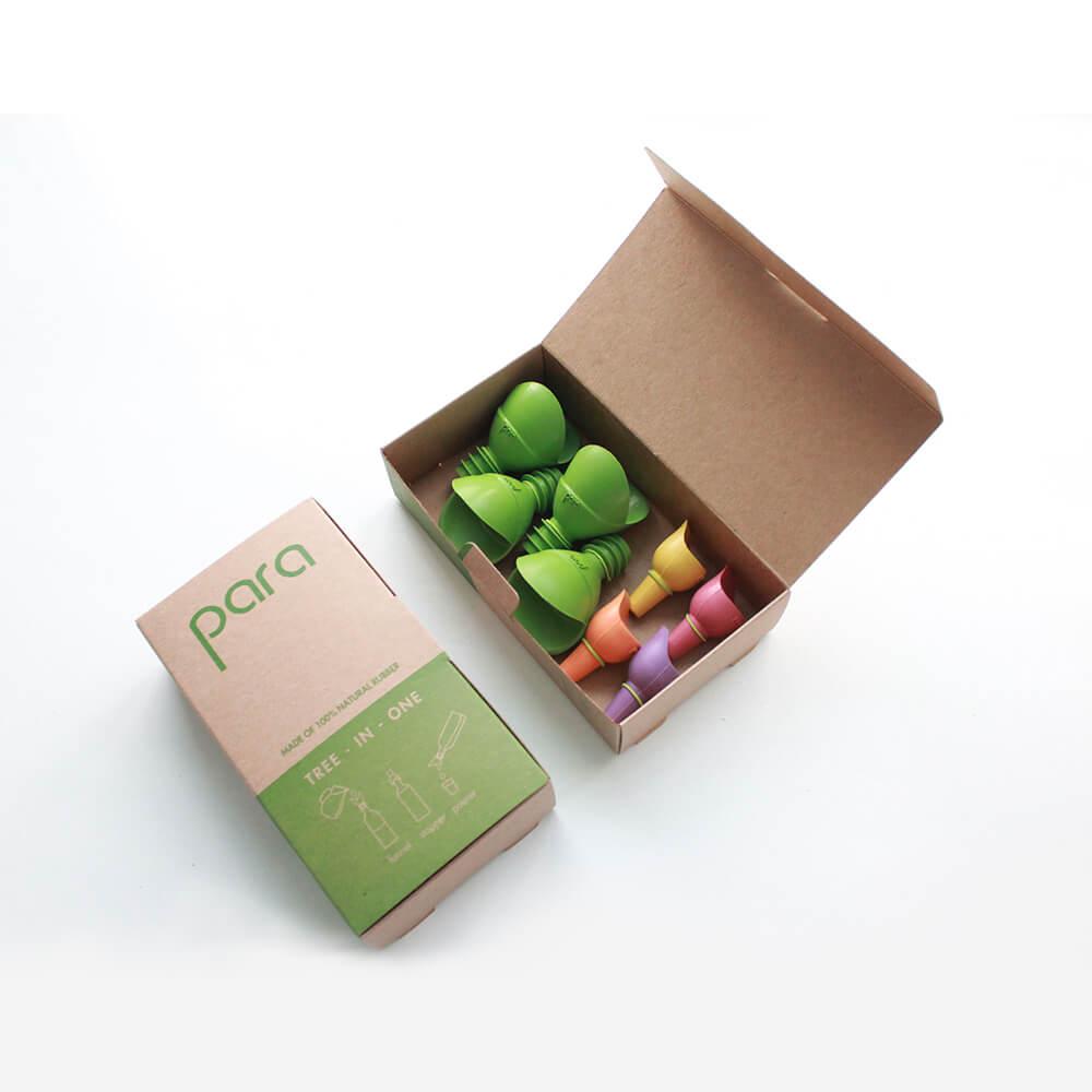 泰國PARA |  環保保鮮酒瓶塞 禮盒組(4入)