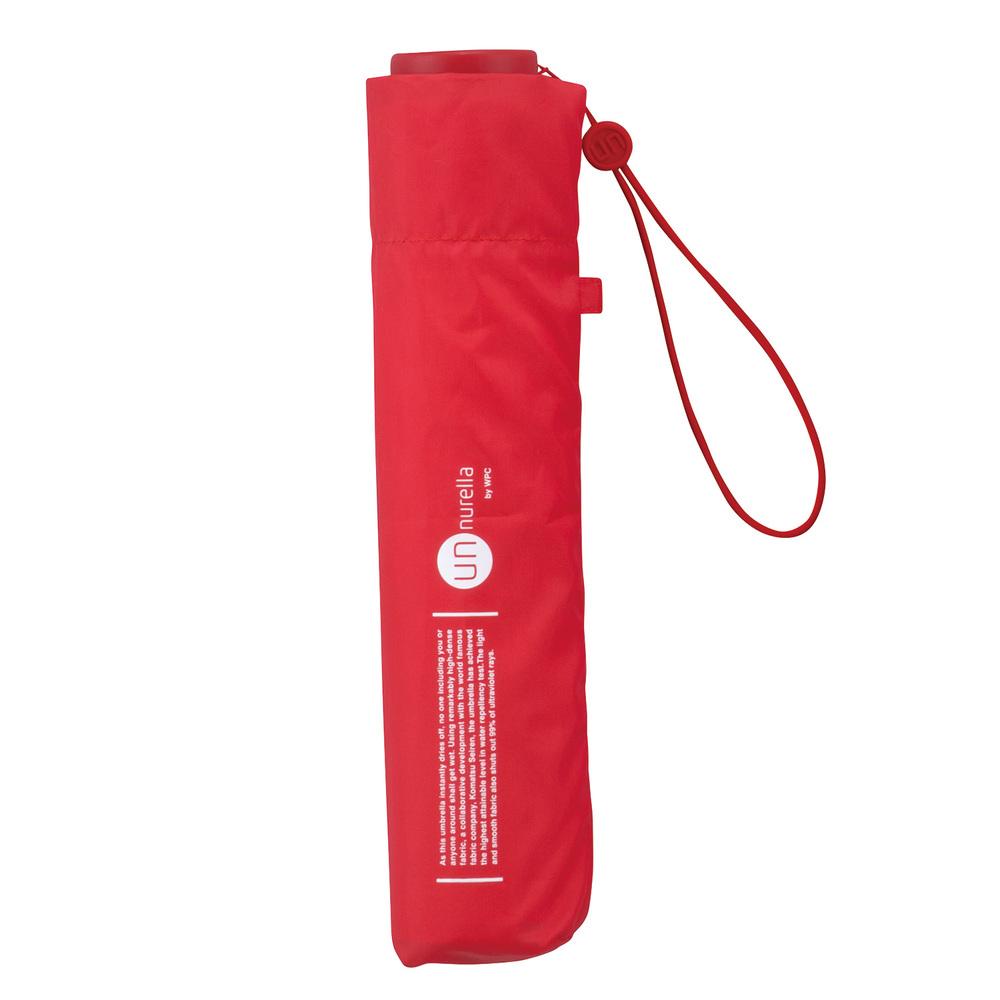 日本Unnurella | 不濕抗UV 晴雨摺疊傘-火熱紅
