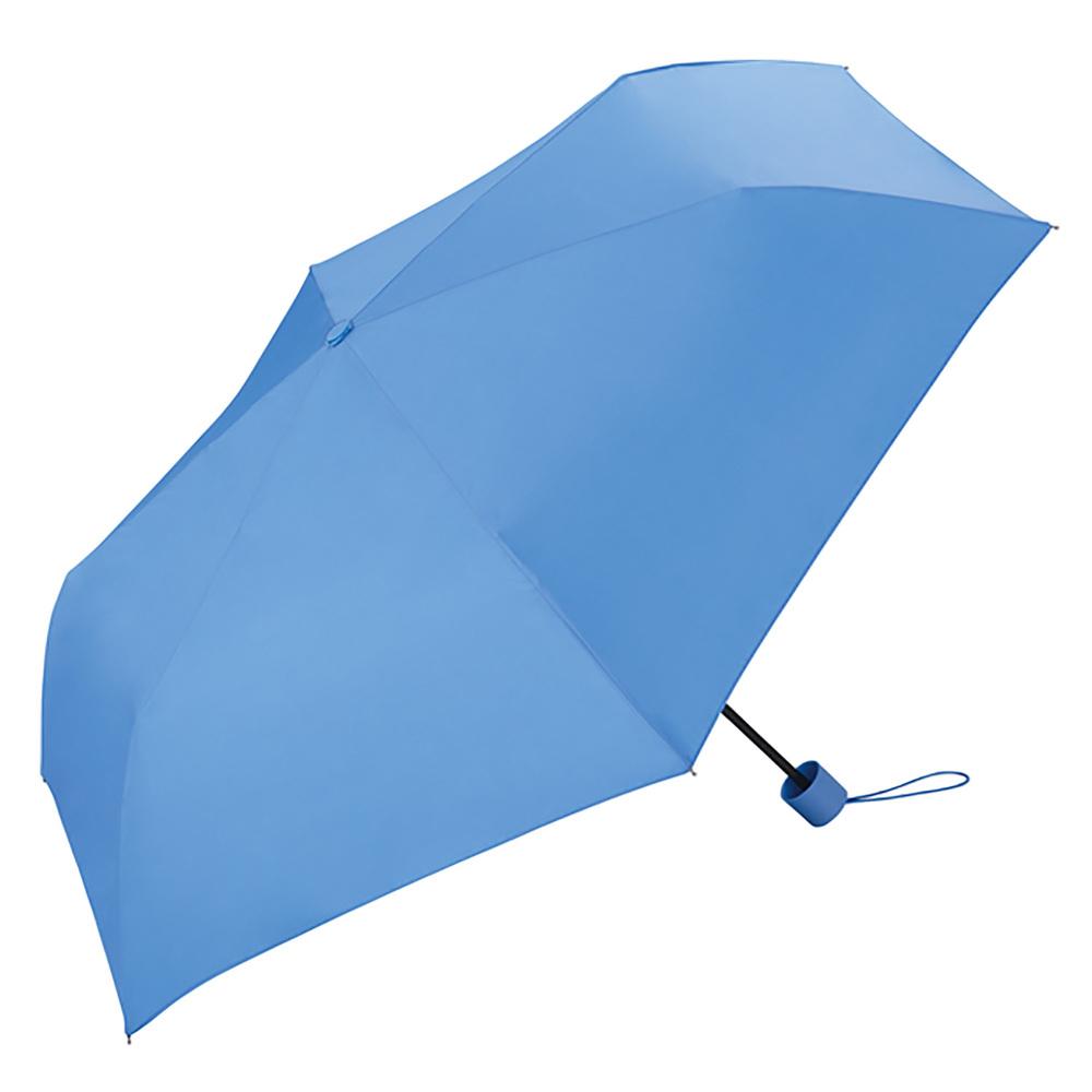 日本Unnurella   不濕抗UV 晴雨摺疊傘-天空藍