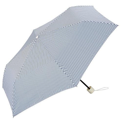 日本Unnurella | 不濕抗UV 晴雨摺疊傘-日系直條紋