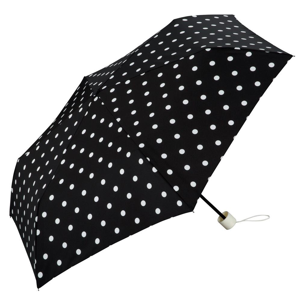 日本Unnurella | 不濕抗UV 晴雨摺疊傘-復古白點
