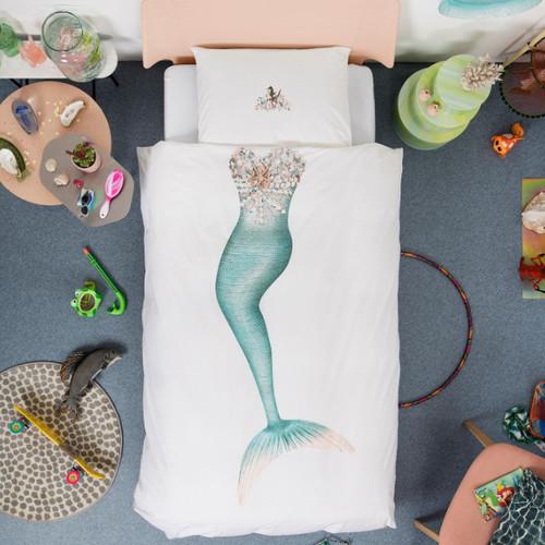 SNURK 夢幻公主系列-小美人魚 枕套+被套組