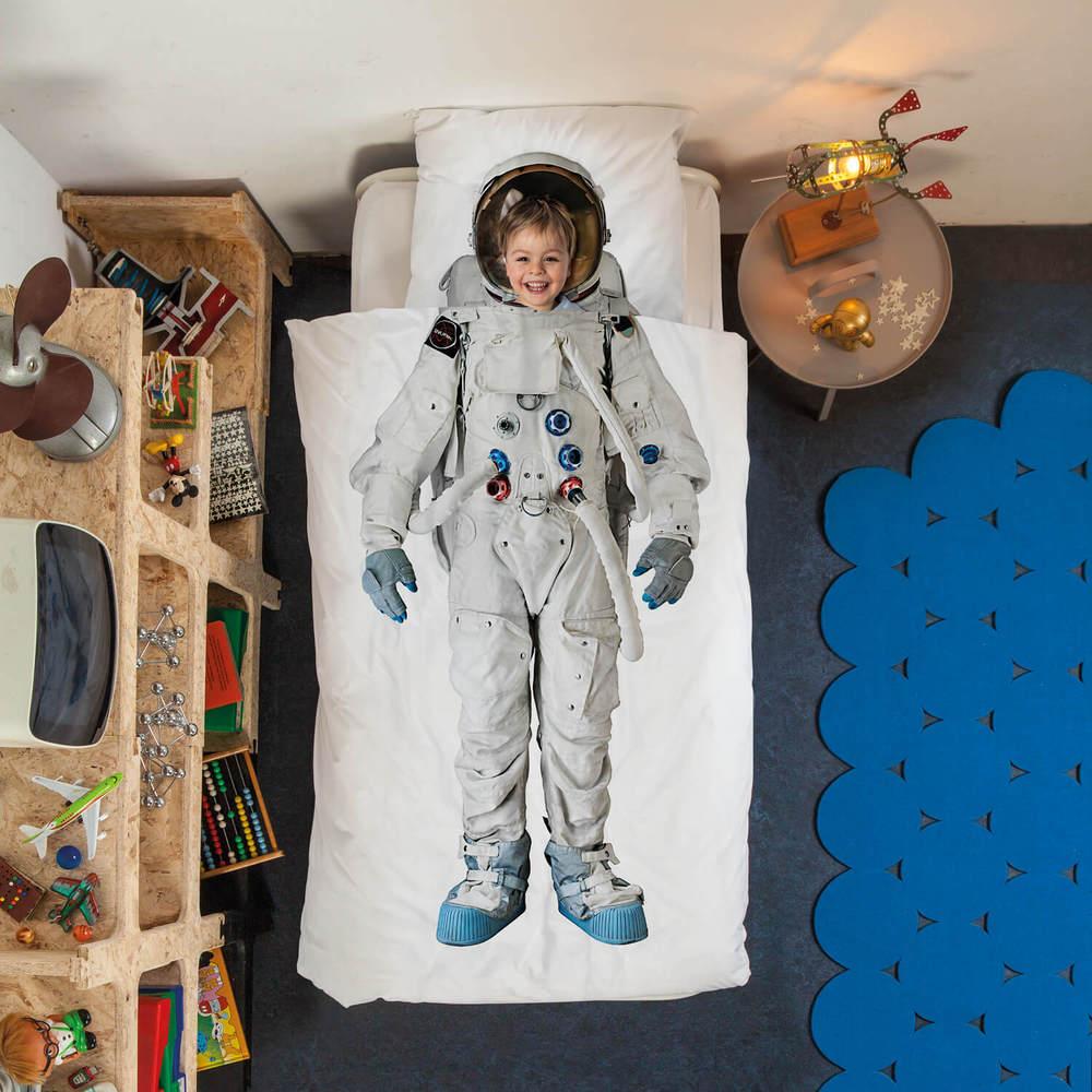 SNURK   漫遊太空系列- 太空人 枕套+被套組