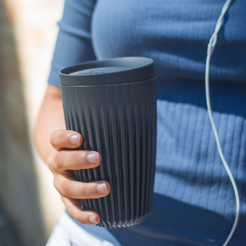 Huskee | HuskeeCup 環保咖啡杯隨行組 12oz (黑/2入組)