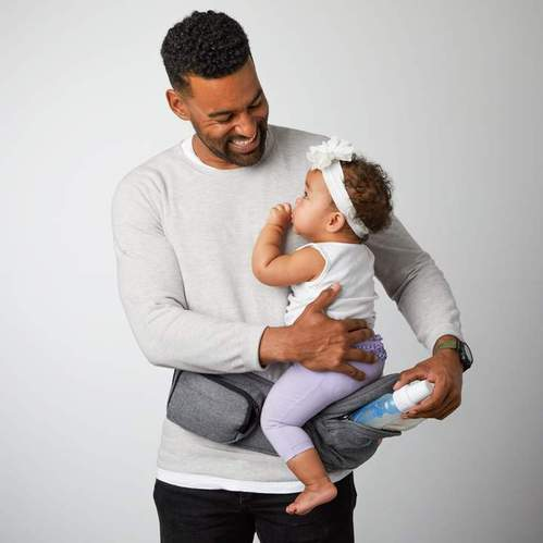 TushBaby | Hipseat 坐墊式嬰兒腰帶 (灰色)