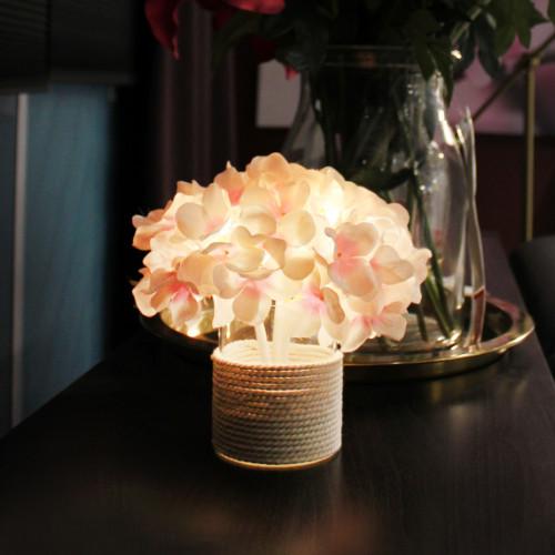 韓國 Via K Studio   LED仿真花夜燈-繡球花盆裝系列-兩色