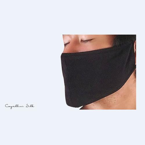 日本 La Sois | 睡眠專用絲綢口罩 粉色