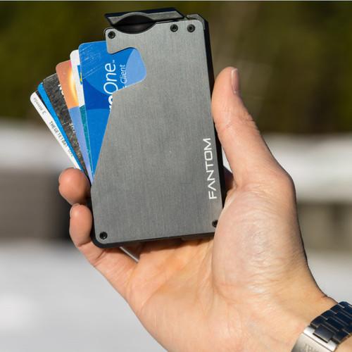 加拿大 AnsixDesigns | FANTOM 銀灰 信用卡收納夾(8-13張卡片)