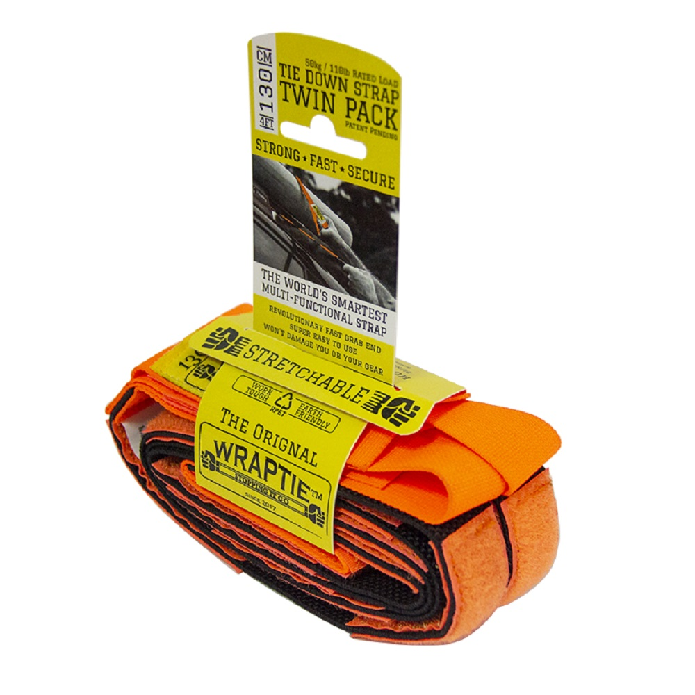 澳洲 WRAPTIE™ | 多用途可伸縮專利束帶 (130cm雙入組)