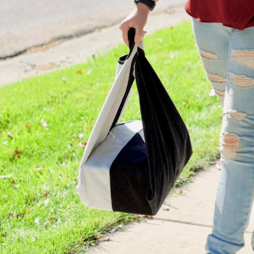 日本 Origami Bag | 多國專利萬用自黏手提袋 (附贈一條自黏布)