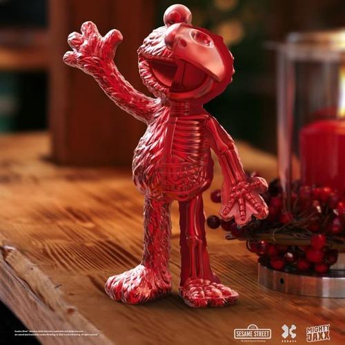 【集購】Mighty Jaxx | XXRAY PLUS 原廠限定 芝麻街 Red Chrome節慶特別版 Elmo半剖授權公仔(21.5公分)