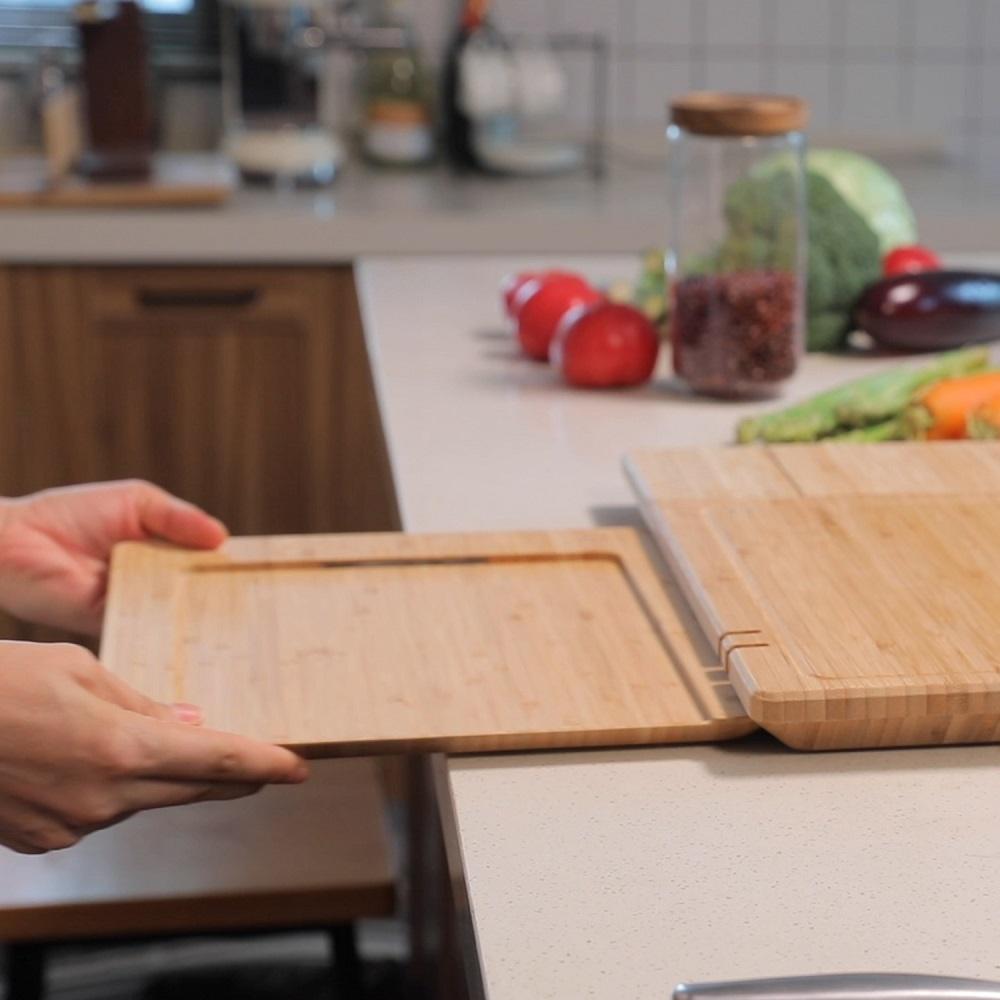 ChopBox 全球首創 5合1 智慧殺菌竹砧板