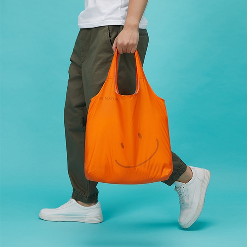 BeeNesting Carry Air 超耐重空氣購物袋15L 笑顏橘(小)