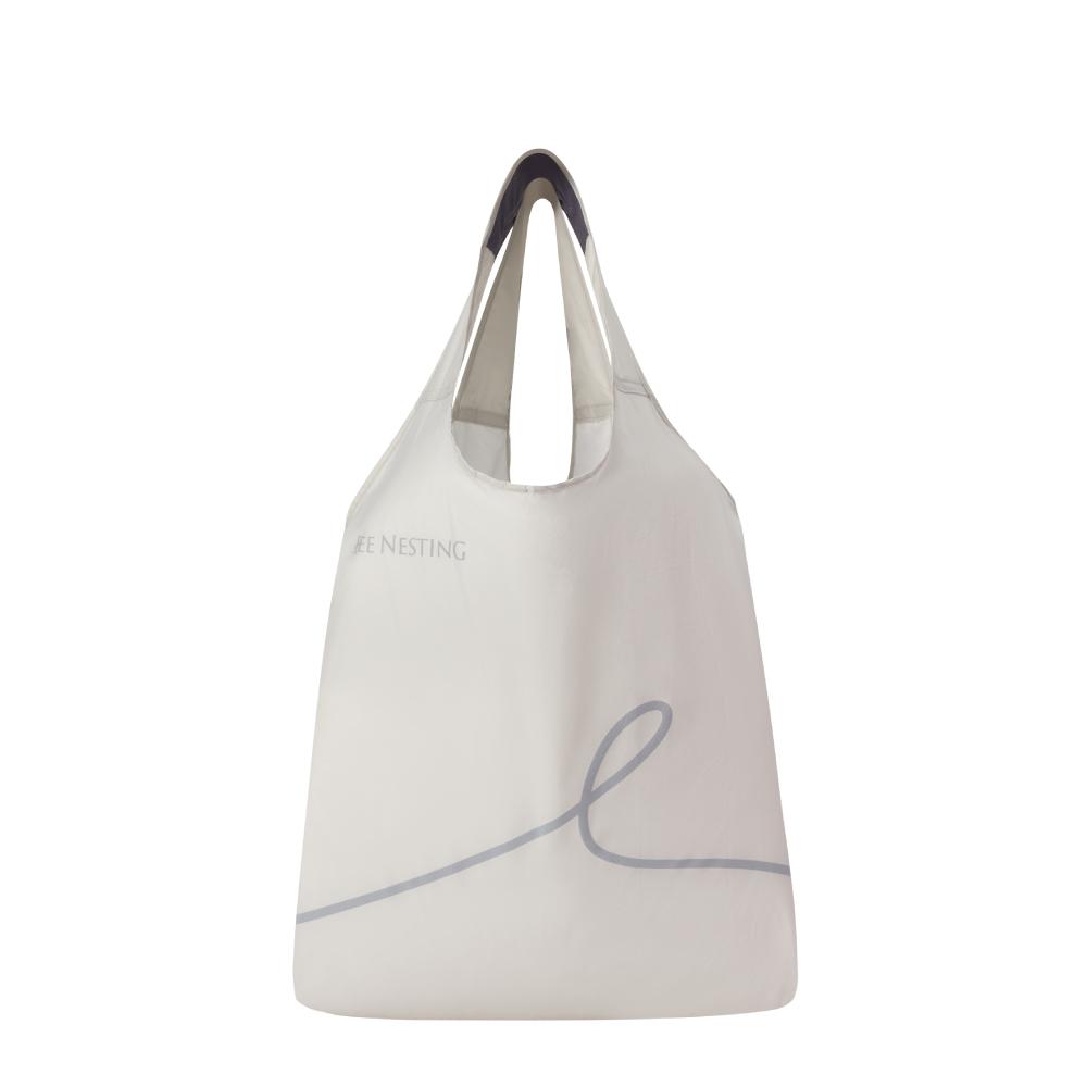 BeeNesting|Carry Air 超耐重空氣購物袋15L 雪山灰(小)