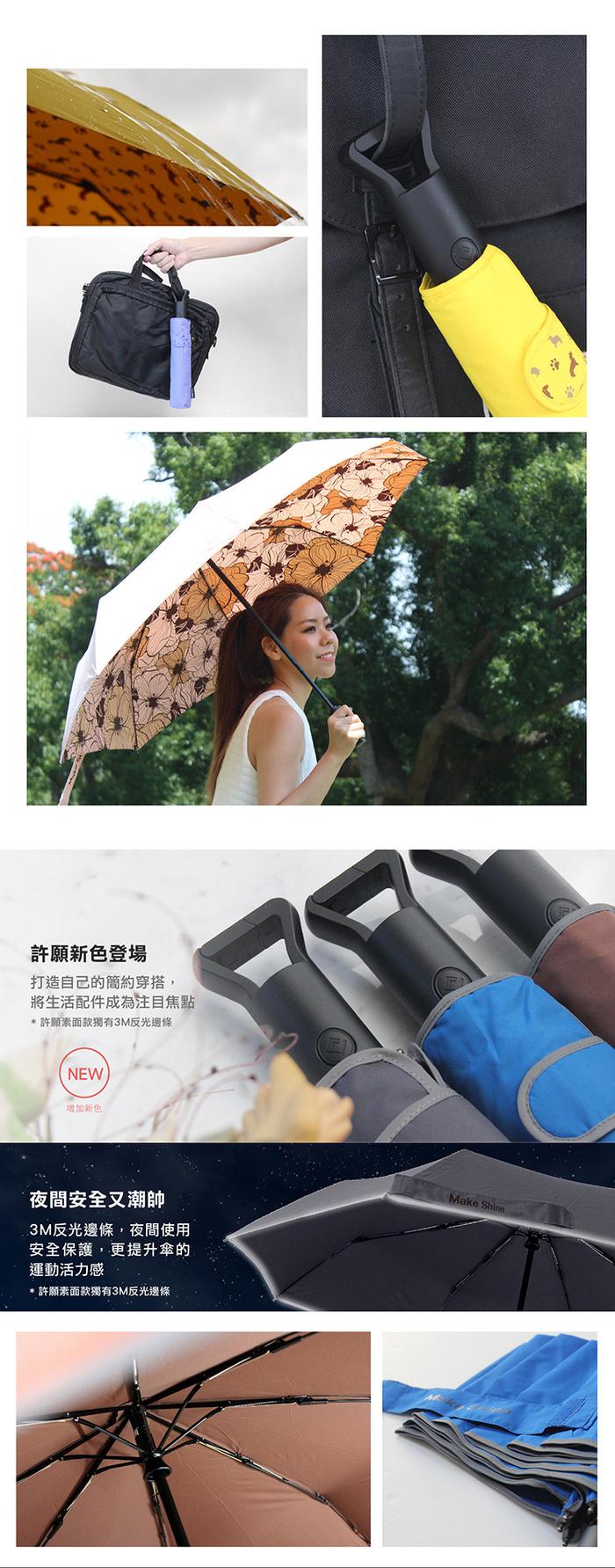 Make Shine|ClipGo原創自動傘(熟成藍)