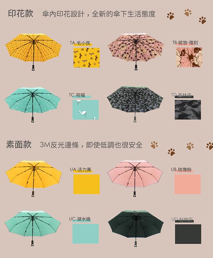 【Make Shine】ClipGo 2.0 可立扣輕量無縫自動傘(毛小孩)