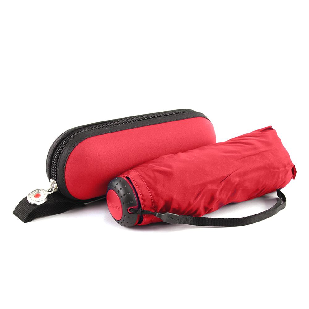 Knirps德國紅點傘|X1 輕巧紅點膠囊五折傘-Mat Cross