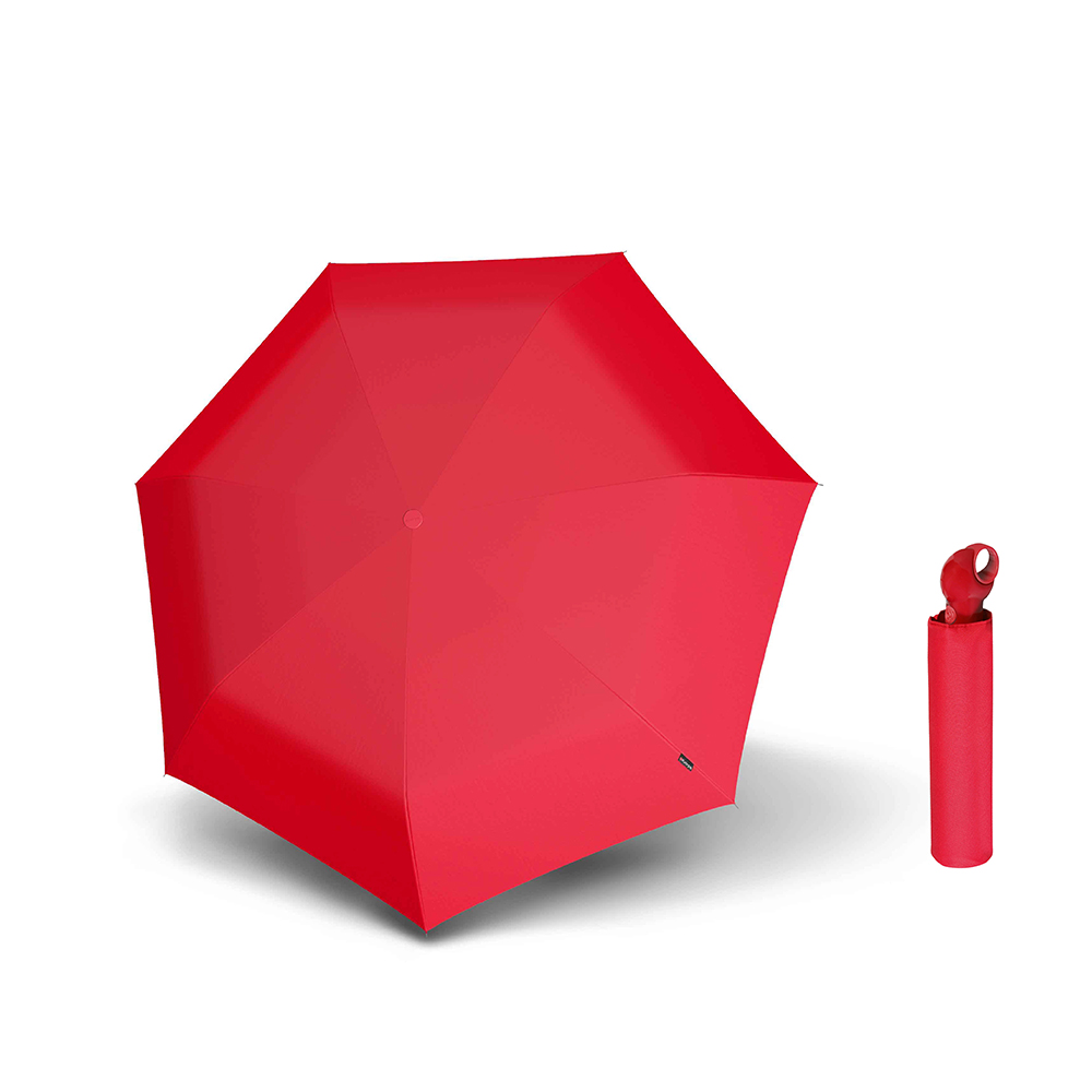 Knirps德國紅點傘|Floyd 超輕三折自動傘 -Red