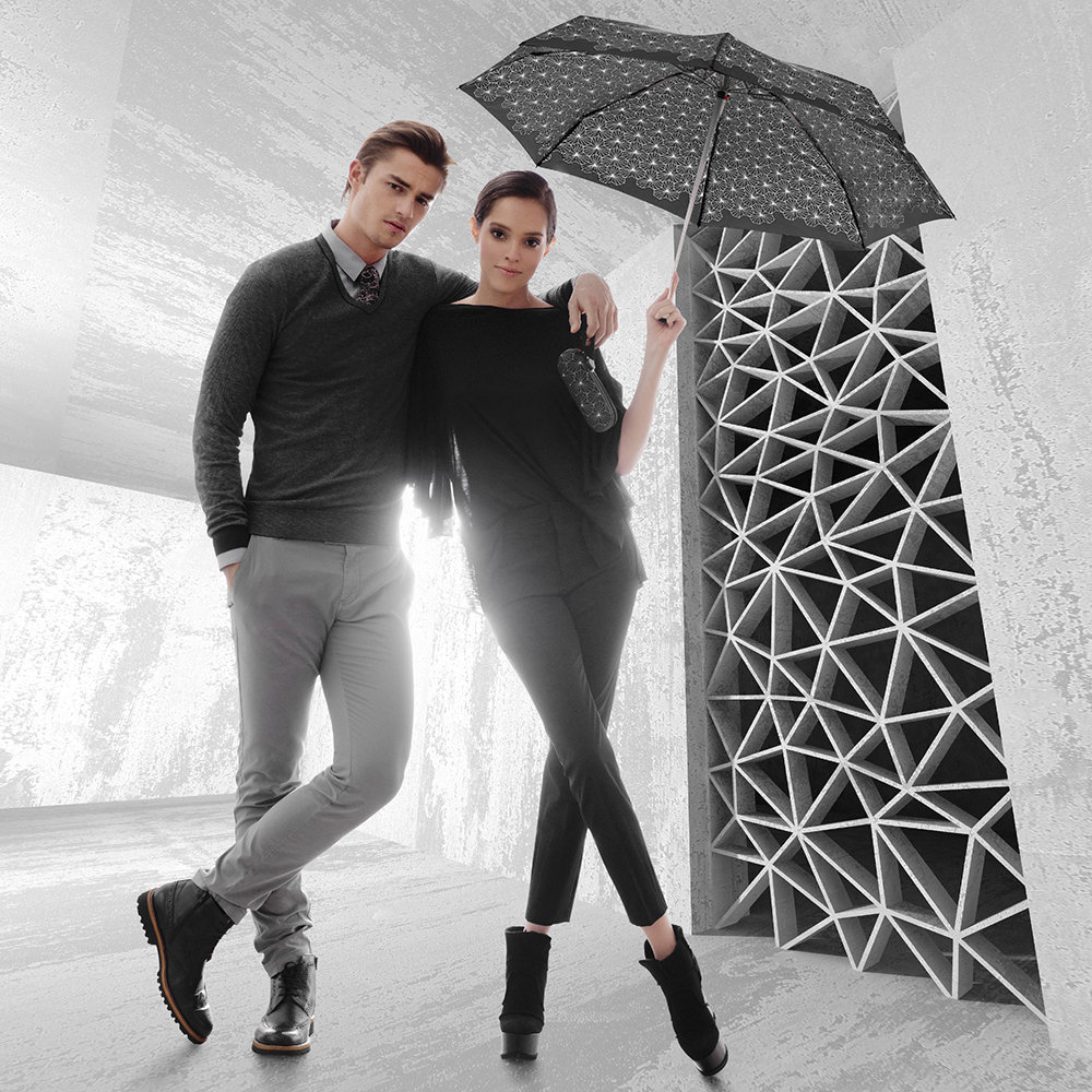 Knirps德國紅點傘|X1 輕巧紅點膠囊五折傘-Lotus Black
