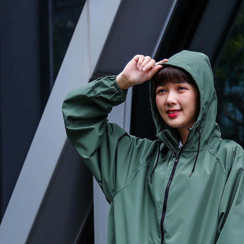 MECOVER|全能速乾風雨衣【加長版】(松葉)