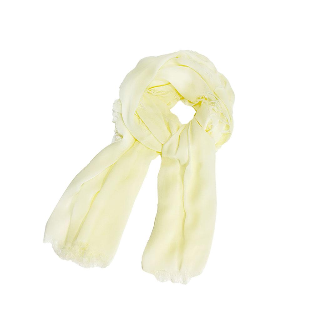 WEAVISM織本主義|膠原蛋白胜肽美膚絲巾 - 天然植物染 - 福木黃