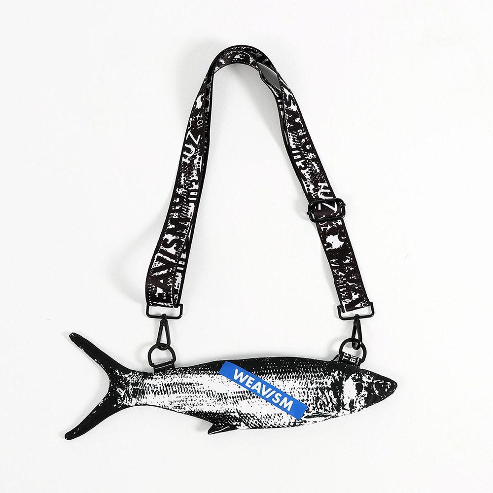 WEAVISM織本主義|WHAT FISH 虱目魚手機包 (黑白)