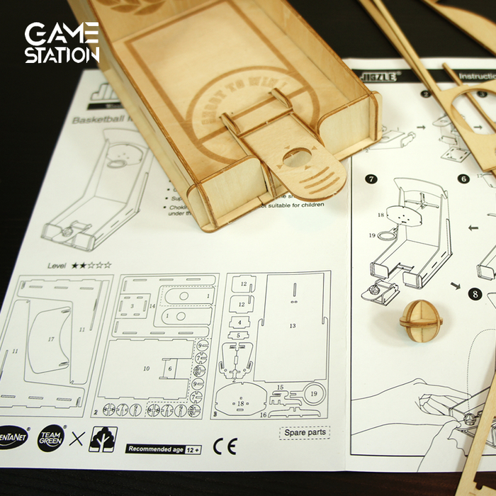 Team Green|3D木拼圖 Game-Station-籃球機