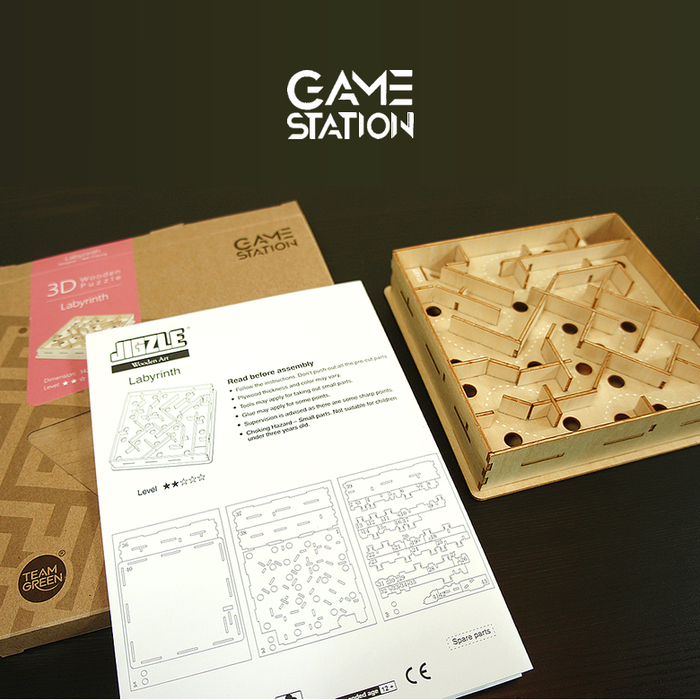 Team Green|3D木拼圖 Game-Station-迷宮