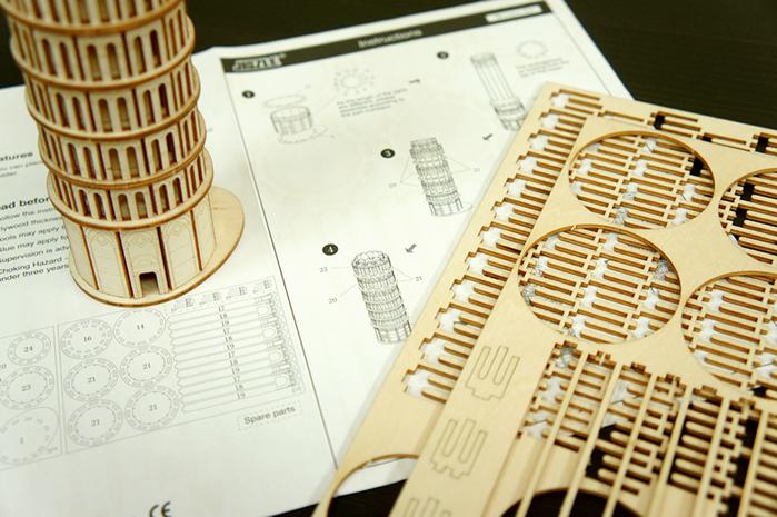 (複製)Team Green|3D木拼圖 比薩斜塔筆筒